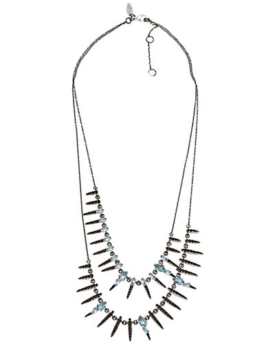 Alexis Bittar Silver Quartz & Blue Spinel Necklace