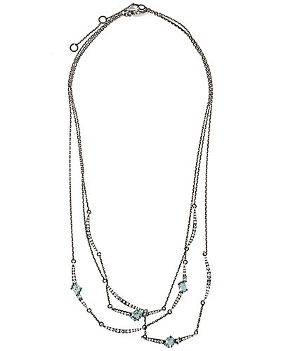 Alexis Bittar Marquis Silver Gemstone Necklace