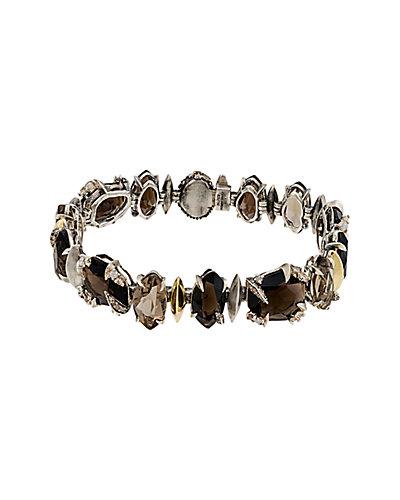 Alexis Bittar 18K & Silver Brown Quartz Bracelet