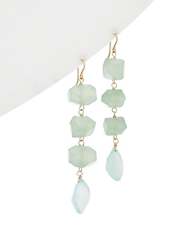 Devon Leigh 14K Filled Chalcedony Drop Earrings