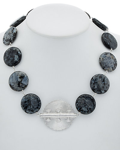 Devon Leigh Plated Hysterstone Necklace