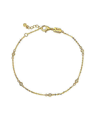 Suzy Levian 14K 0.15 ct. tw. Diamond Station Bracelet