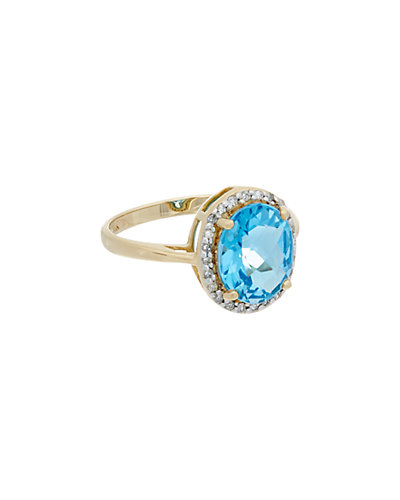 Effy Fine Jewelry 14K 3.30 ct. tw. Diamond & Blue Topaz Ring