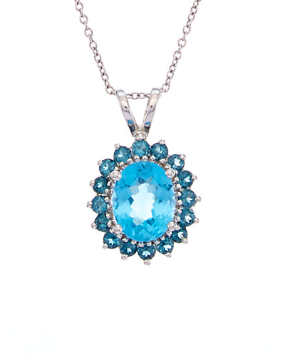 Effy Fine Jewelry 14K 2.65 ct. tw. Blue Topaz Necklace