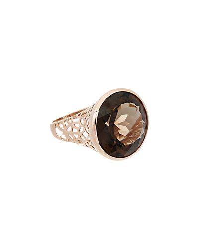 Effy Fine Jewelry 14K Rose Gold 15.86 ct. tw. Smokey Quartz Ring