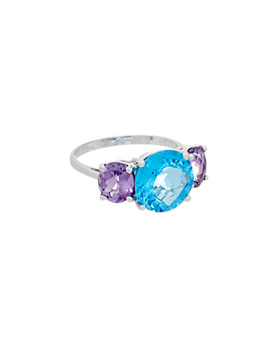 Effy Fine Jewelry 14K 7.60 ct. tw. Amethyst & Blue Topaz Ring