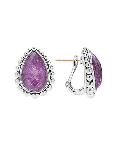 LAGOS Maya Silver Charoite Doublet Earrings