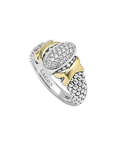 LAGOS Diamond Lux 18K & Silver 0.21 ct. tw. Diamond Ring