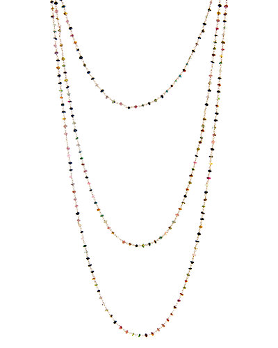 Rivka Friedman Signature 14K Over Silver Tourmaline Necklace