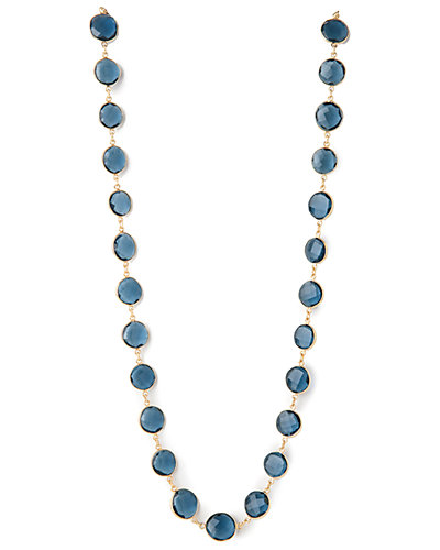 Rivka Friedman Signature 14K Over Silver Topaz 37in Necklace