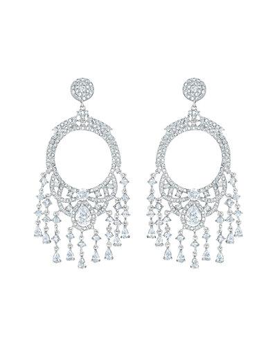 Genevive Silver CZ Earrings