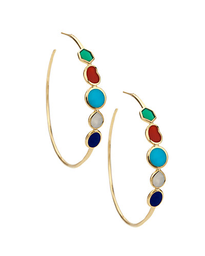 IPPOLITA Polished Rock Candy 18K 7.00 ct. tw. Mother-of-Pearl & GemstoneHoops