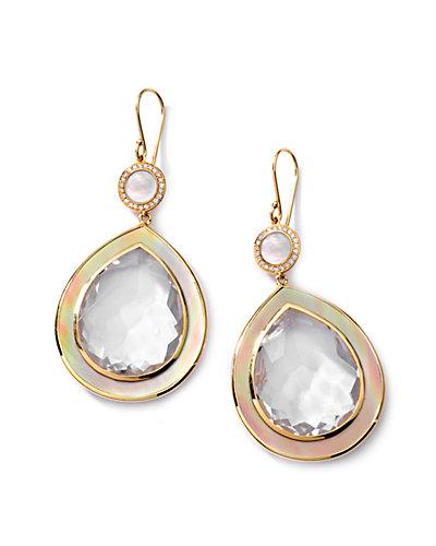 "IPPOLITA ""Ondine"" 18K 27.26 ct. tw. Mother-of-Pearl, Quartz, Diamond, & Shell Drop Earrings"