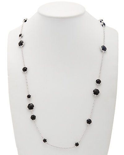 Judith Ripka Eclipse Silver 53.56 ct. tw. Onyx 36in Necklace