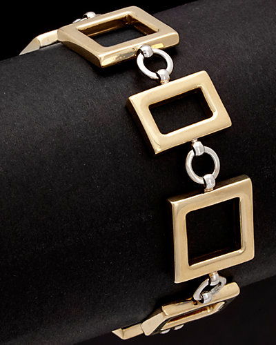 14K Italian Gold Two-Tone Bracelet