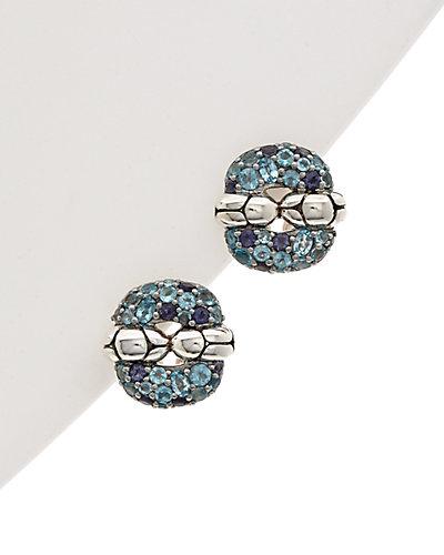 John Hardy Kali Silver 0.30 ct. tw. Topaz Earrings