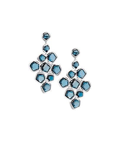 IPPOLITA Rock Candy Silver 38.68 ct. tw. Diamond & Topaz Earrings
