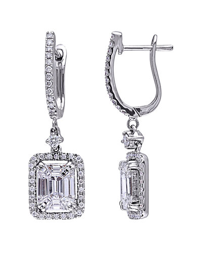 18K 1.90 ct. tw. Diamond Drop Earrings