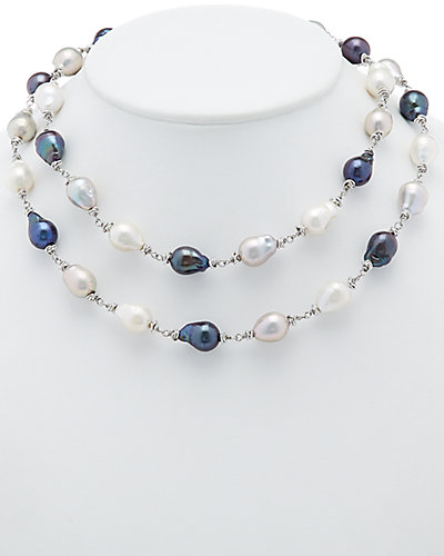 HONORA Silver 11-12mm Pearl 35in Necklace