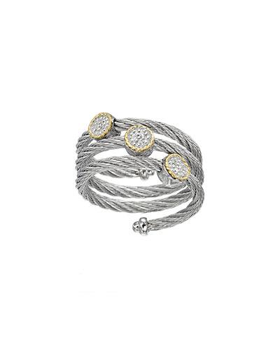ALOR Classique 18K Diamond Cable Ring