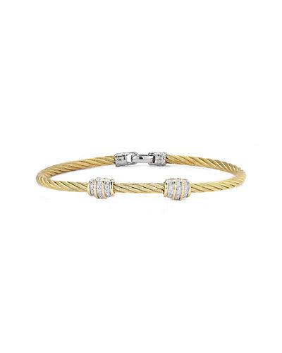 ALOR Classique 18K 0.13 ct. tw. Diamond Cable Bracelet