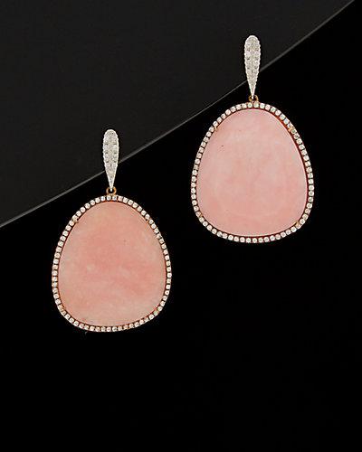 Meira T 14K & Silver 32.00 ct. tw. Diamond & Opal Drop Earrings