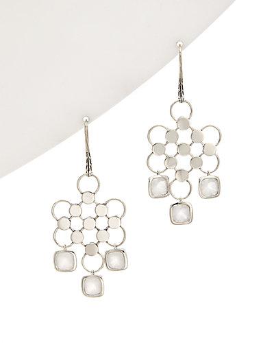 John Hardy Batu Dot Silver Quartz Earrings
