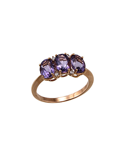 Bliss by Damiani Marina Ext. 18K 2.56 ct. tw. Diamond & Amethyst Ring