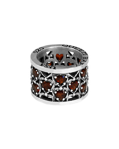 King Baby Studio Sterling Silver Heart Patterned Ring