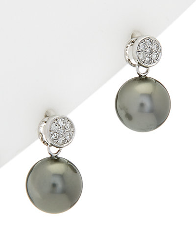 HONORA Silver 9-10mm Pearl Earrings