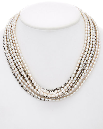 HONORA Silver 4-7.5mm Pearl Necklace