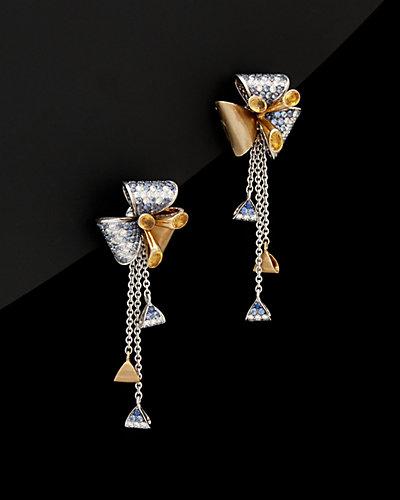 Salavetti 18K 3.48 ct. tw. Diamond & Sapphire Earrings