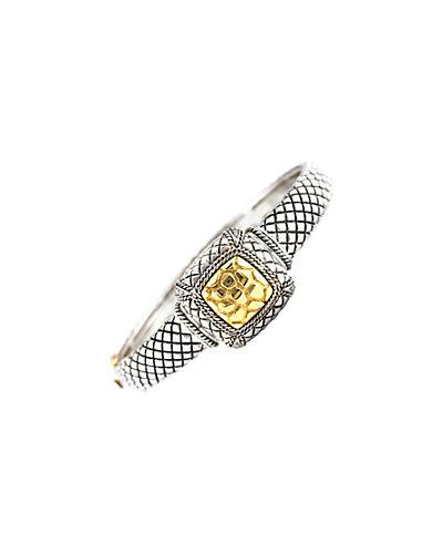 Andrea Candela Divino 18K & Silver 0.13 ct. tw. Diamond Square Bracelet