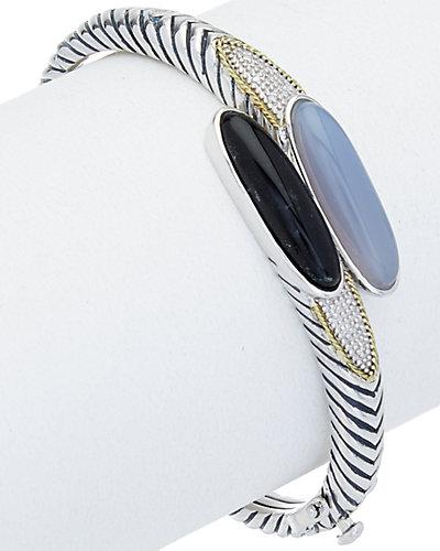 Andrea Candela Trebol 18K & Silver Diamond & Gemstone Bracelet