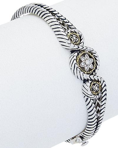 Andrea Candela Lazo 18K & Silver Diamond Bracelet
