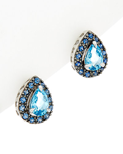 Effy Fine Jewelry 14K 2.76 ct. tw. Blue Topaz & Sapphire Earrings