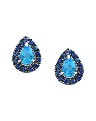 Effy 14K 2.76 ct. tw. Blue Topaz & Sapphire Earrings
