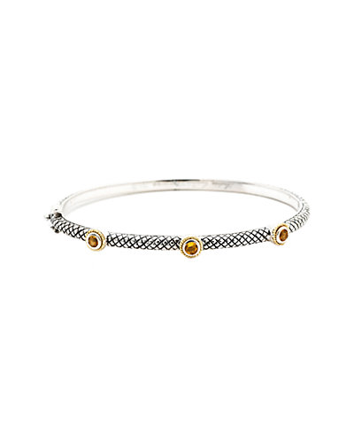 Andréa Candela Pavo Real 18K & Silver 0.35 ct. tw. Citrine Bangle