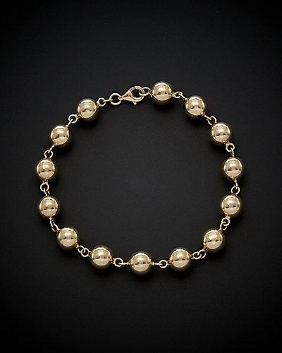 14K Italian Gold Ball Bracelet