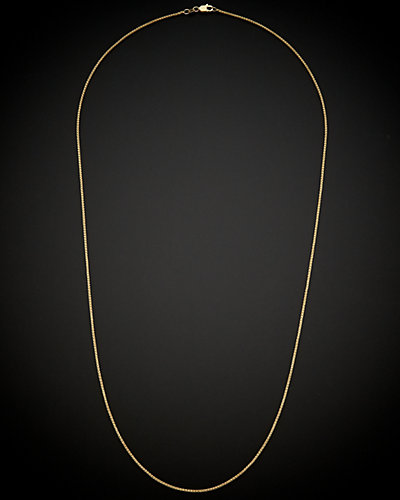 18K Italian Gold Round Wheat Chain Necklace
