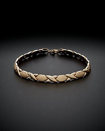14K Italian Gold XO Bracelet