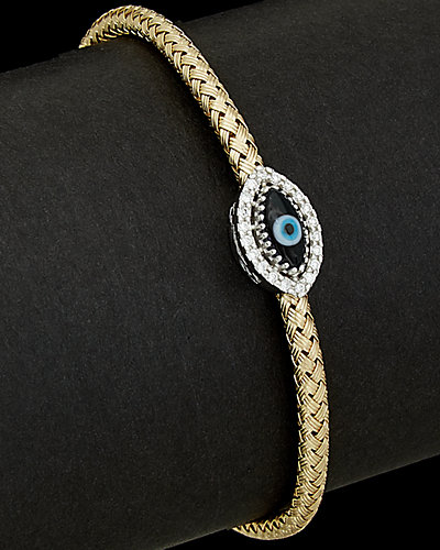 Meshmerise 14K 0.15 ct. tw. Diamond Evil Eye Bracelet