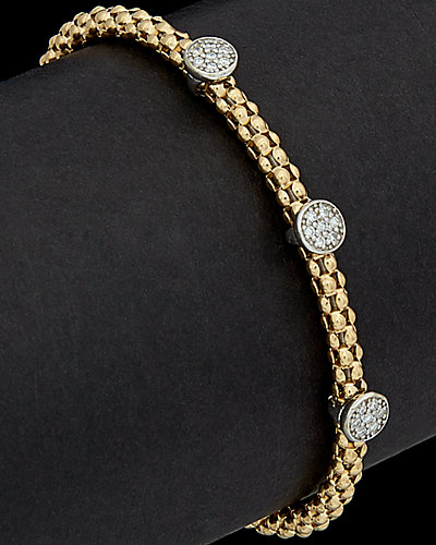 Meshmerise 14K 0.30 ct. tw. Diamond Circle Bracelet