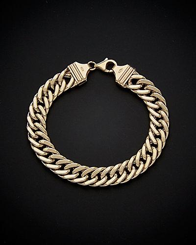 14K Flat Link Bracelet