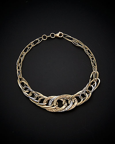 14K Two-Tone Link Bracelet