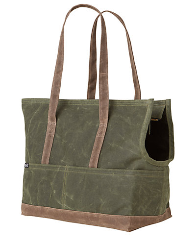 Love Thy Beast Waxed Canvas Pet Tote